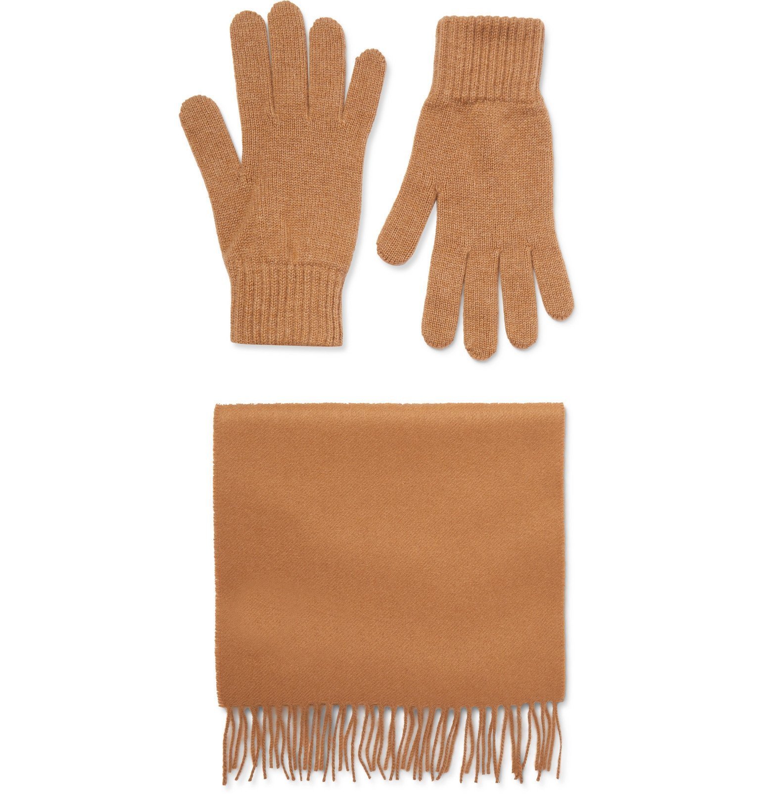 Photo: Johnstons of Elgin - Cashmere Scarf and Gloves Set - Brown