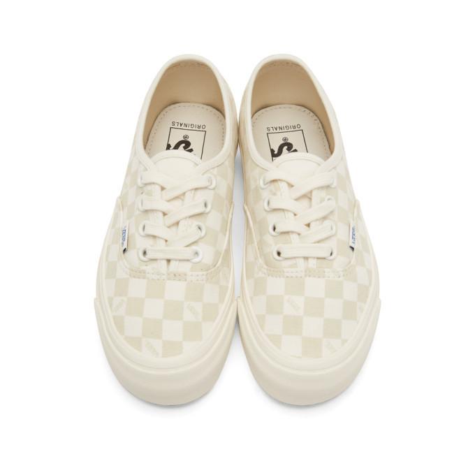 vans beige checkerboard