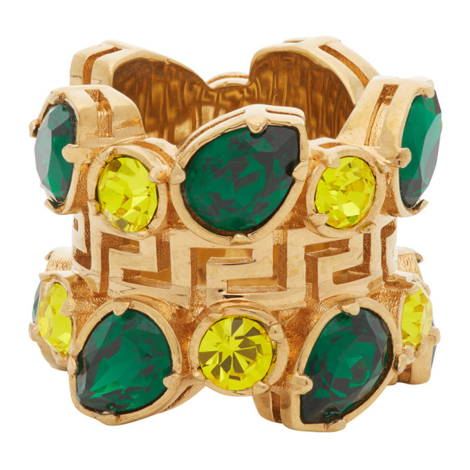 Photo: Versace Green Jungle Empire Ring