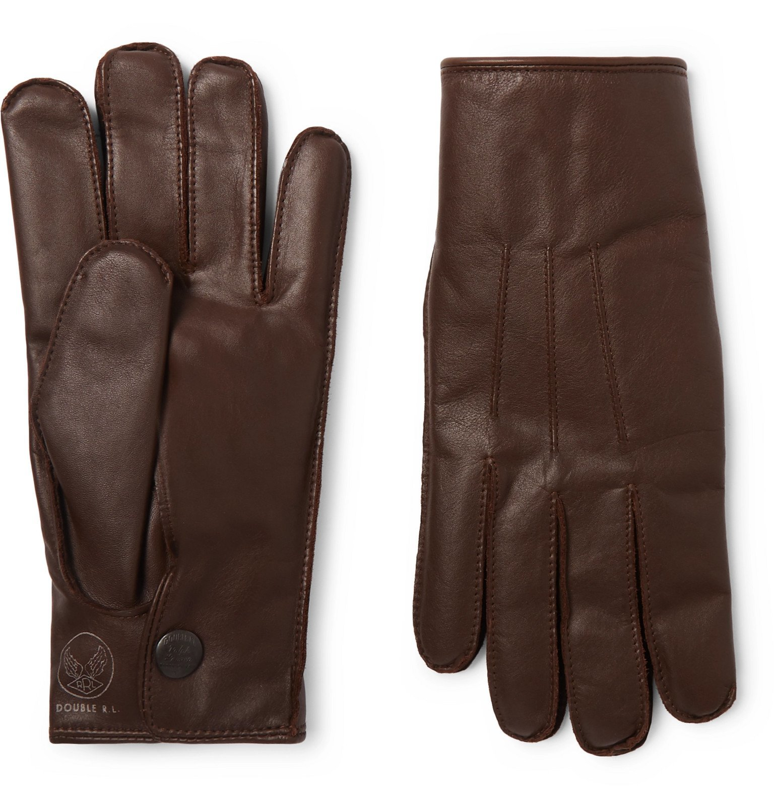 RRL - Cashmere-Lined Leather Gloves - Brown