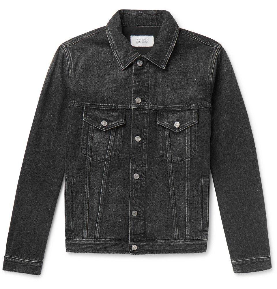 Photo: Givenchy - Logo-Print Denim Jacket - Black