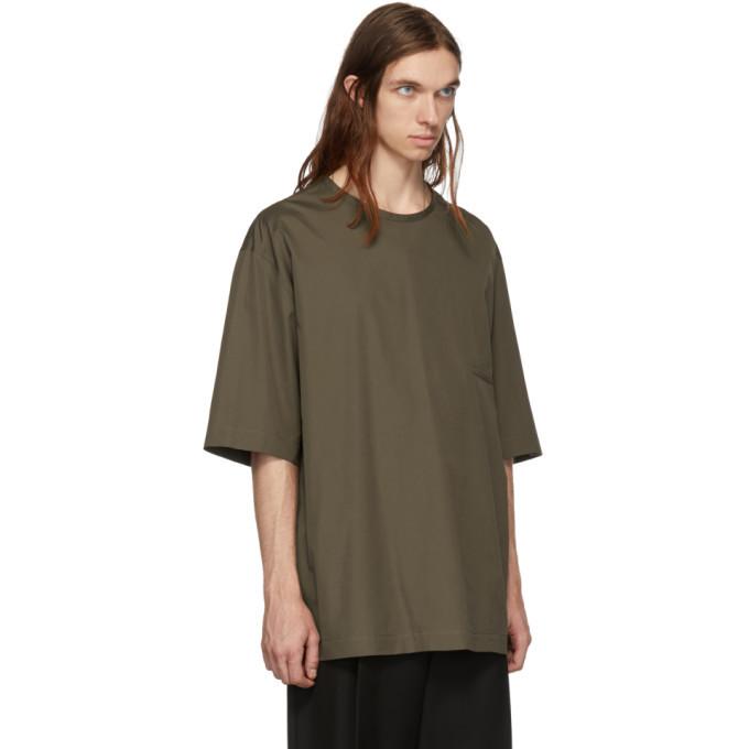 Lemaire Khaki Cotton T-Shirt