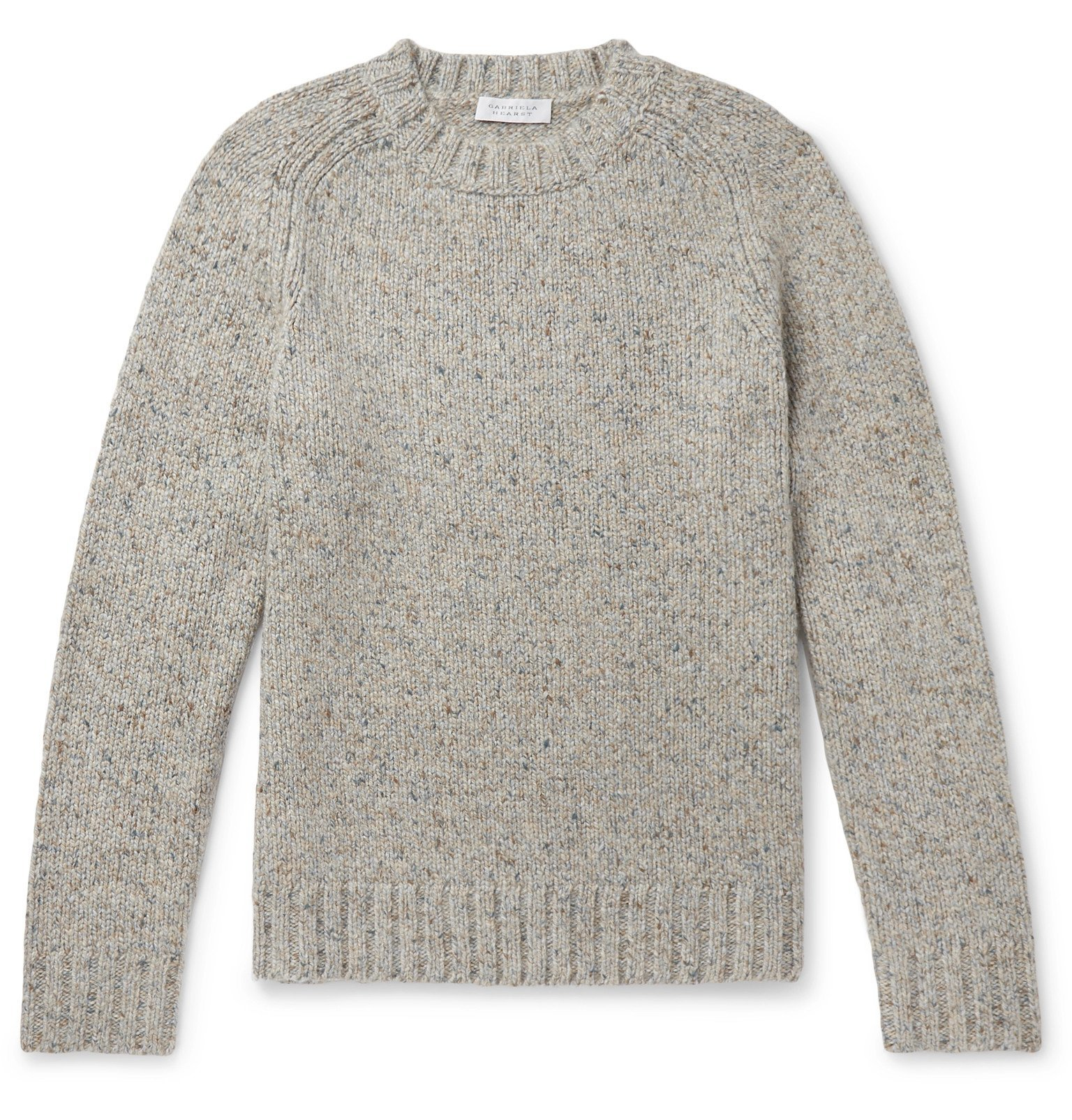 Photo: Gabriela Hearst - Mélange Cashmere Sweater - Gray