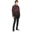 Ksubi Burgundy and Black Denim Oh G Super Nature Jacket