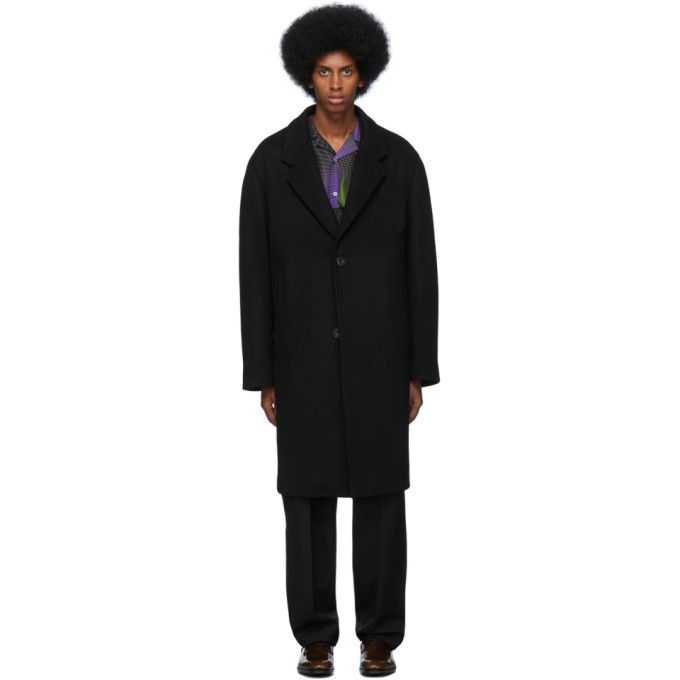 Photo: Lemaire Black Felted Wool Chesterfield Coat