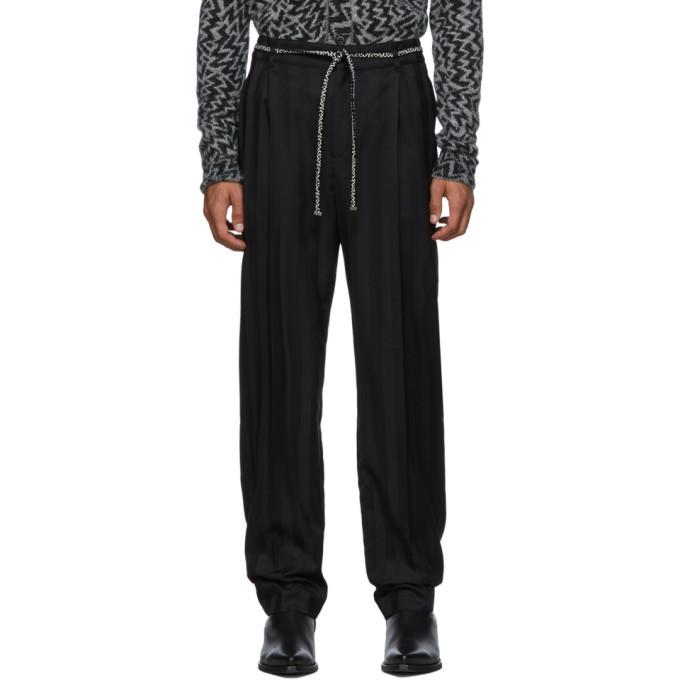 Photo: Saint Laurent Black Tailoring Jogger Trousers