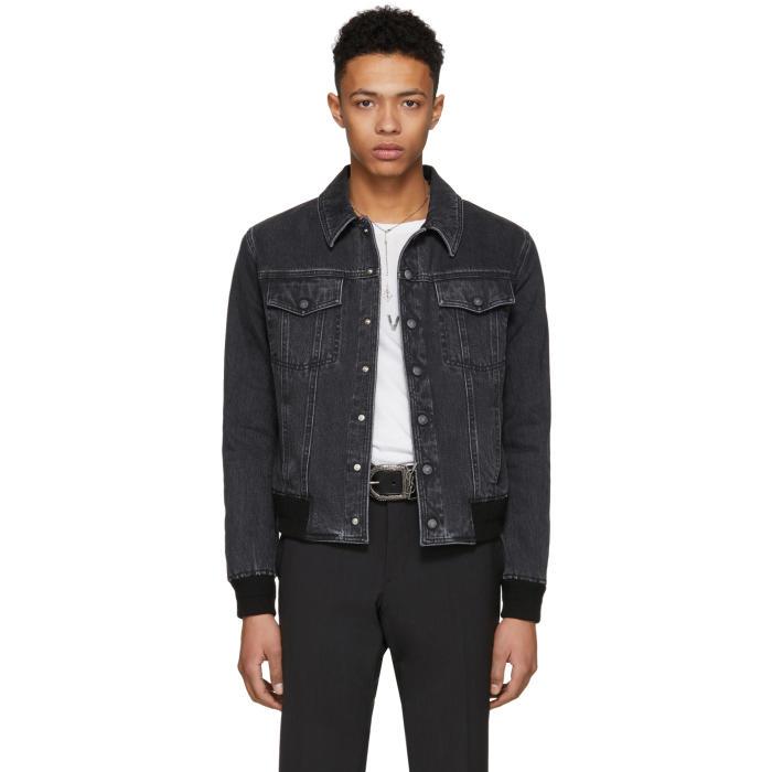 Photo: Saint Laurent Black Stone Wash Denim Jacket