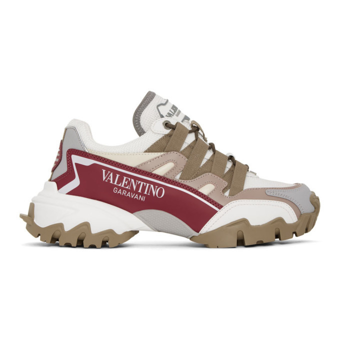 Photo: Valentino White and Purple Valentino Garavani Climbers Sneakers
