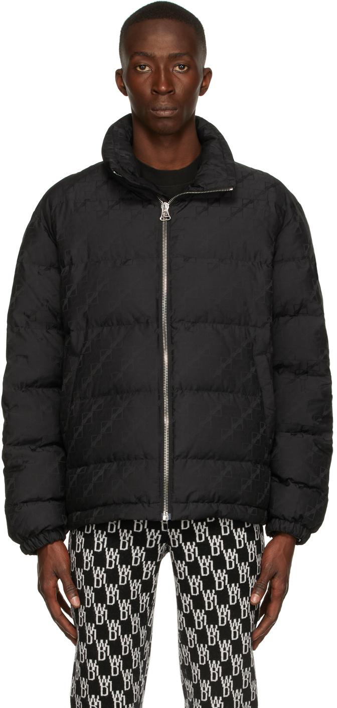 Photo: We11done Black Down Jacquard Logo Jacket
