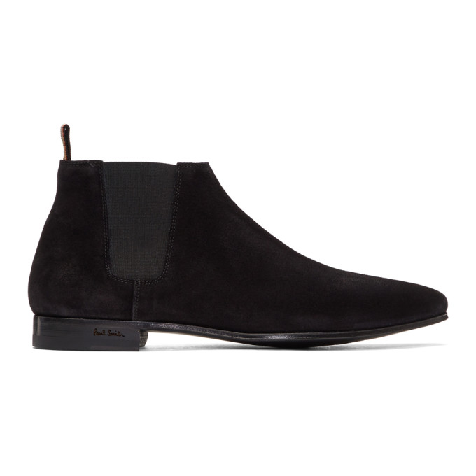 Photo: Paul Smith Black Suede Marlowe Chelsea Boots