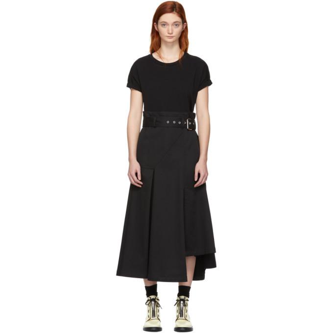 3.1 Phillip Lim Black Jersey T-Shirt Dress
