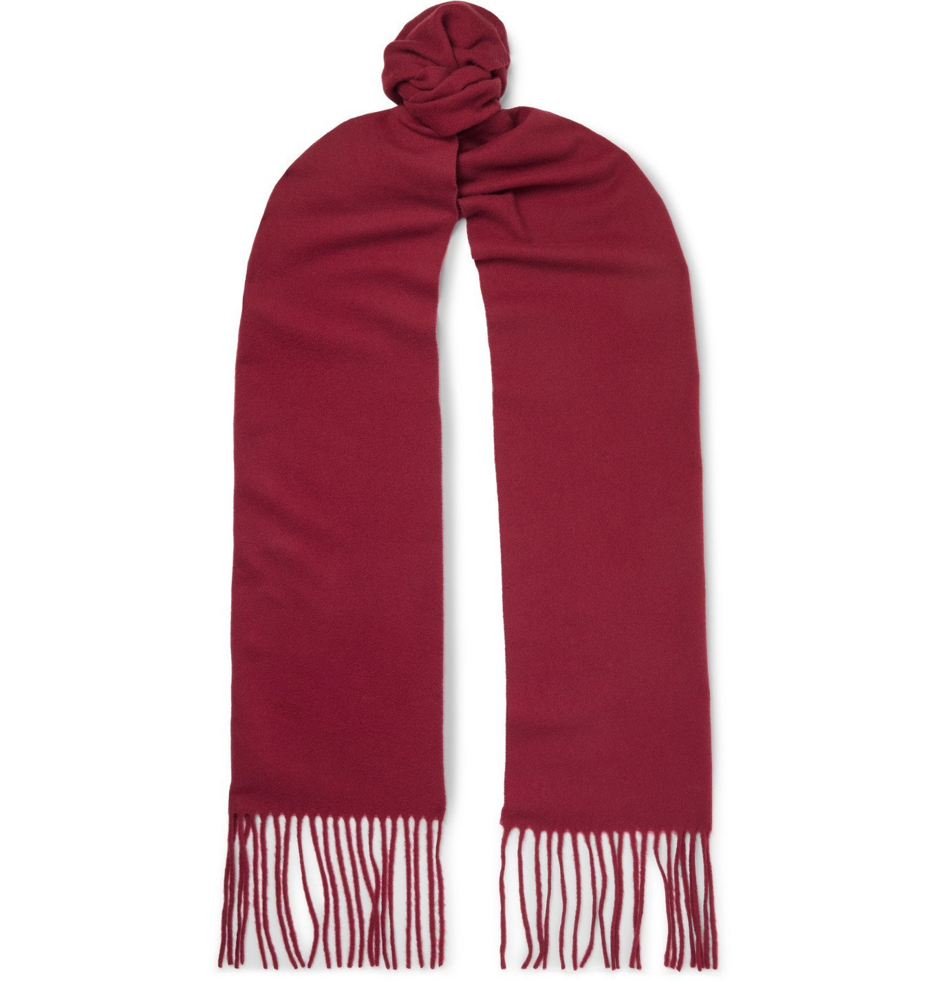 Photo: Acne Studios - Fringed Wool Scarf - Red