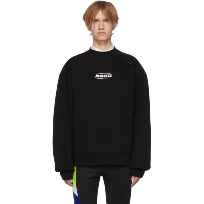 Photo: ADER error SSENSE Exclusive Black ASCC Unbalanced Yoke Sweatshirt