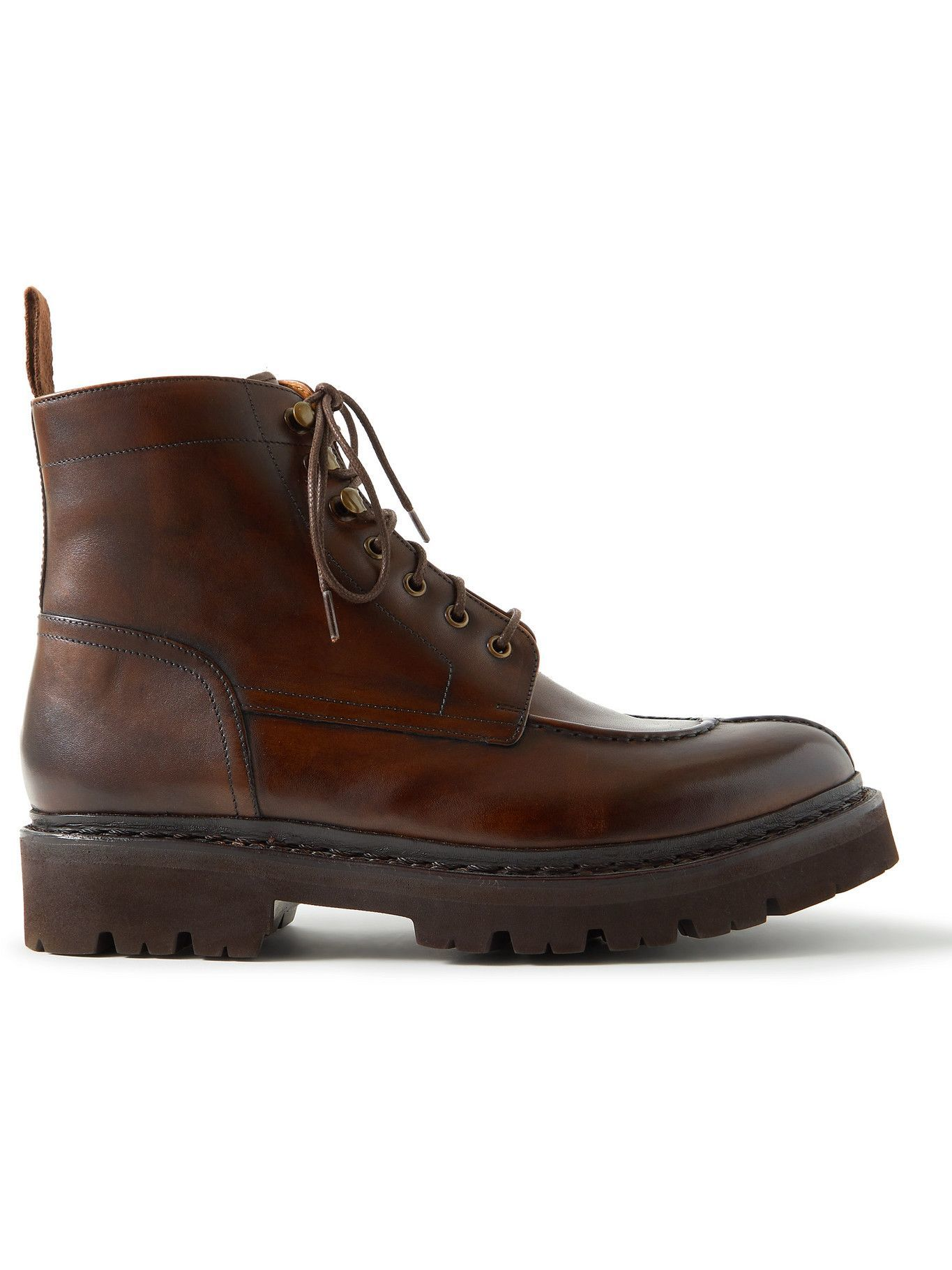 Photo: Grenson - Jonah Burnished-Leather Boots - Brown