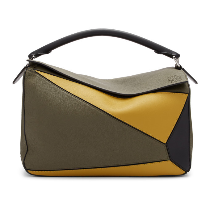 Photo: Loewe Khaki Large Puzzle Bag