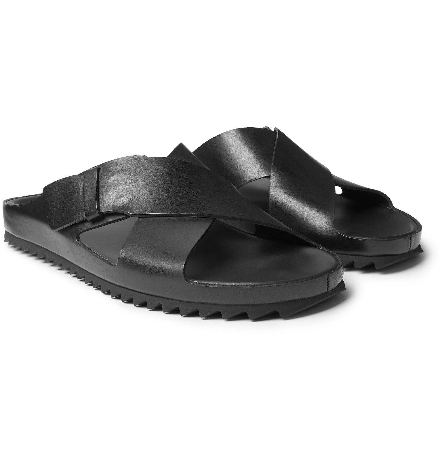 Photo: Officine Creative - Agora Leather Sandals - Black