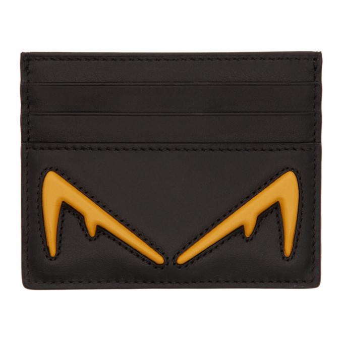Photo: Fendi Black Bag Bugs Card Holder