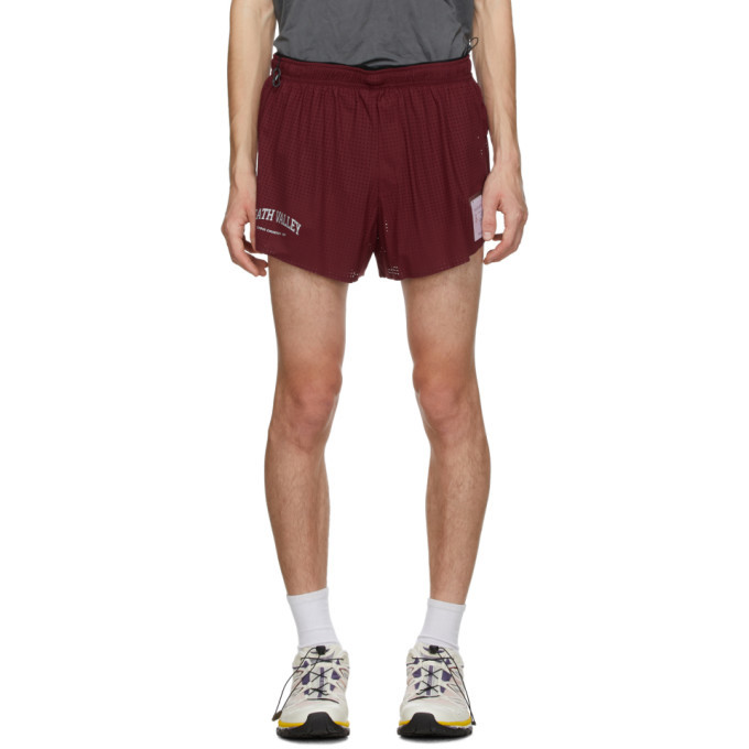 Photo: Satisfy Burgundy Long Distance 2.5 Inches Shorts