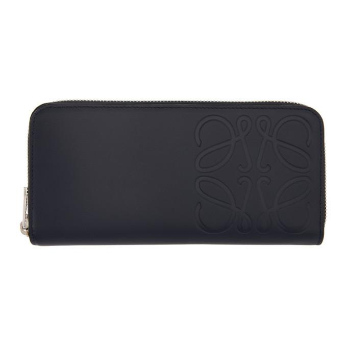 Photo: Loewe Navy Brand Open Zip-Around Wallet