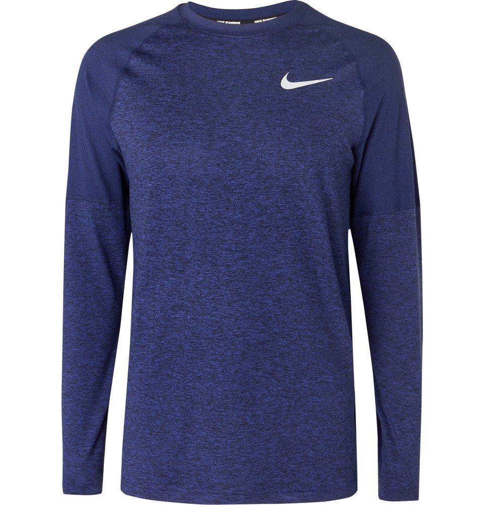 Nike Running - Element Mélange Dri-FIT T-Shirt - Men - Indigo
