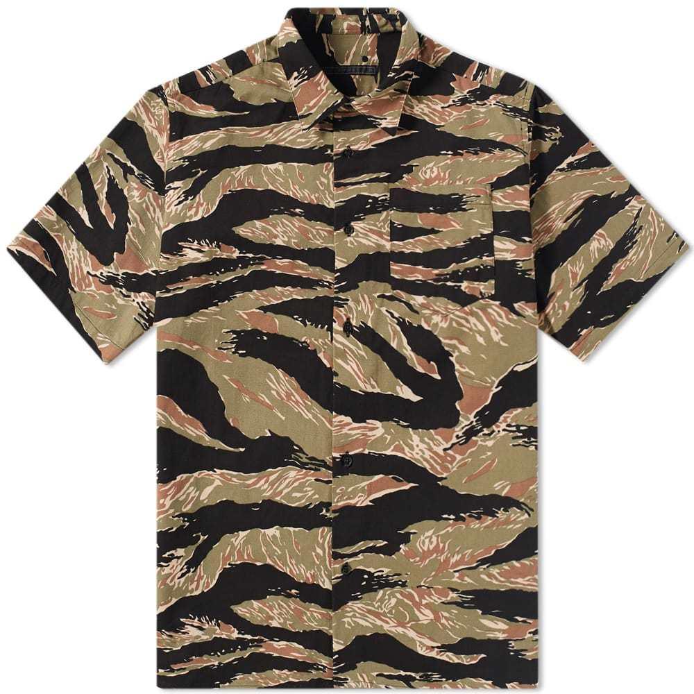 Photo: SOPHNET. Short Sleeve Tiger Camouflage Shirt Green