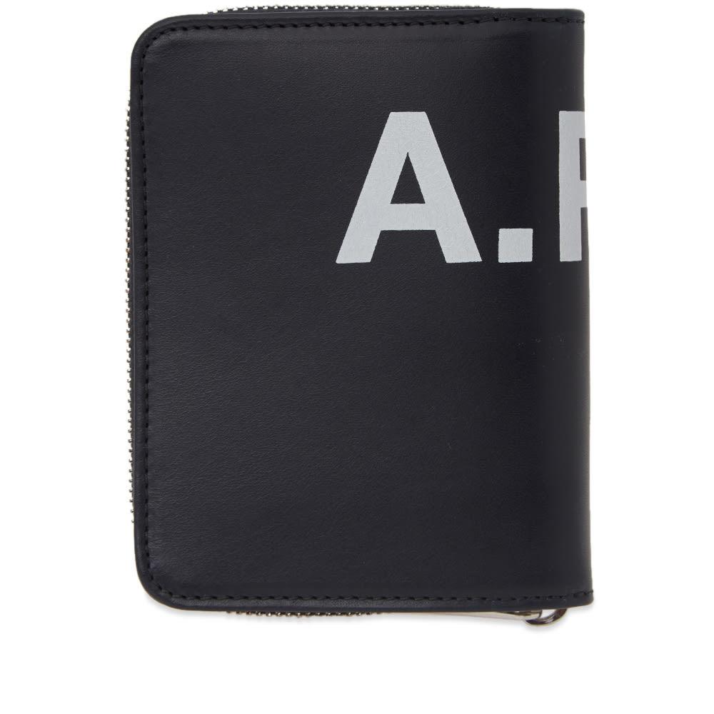 Photo: A.P.C. Emmanuel Large Logo Zip Wallet