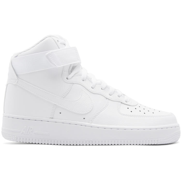 Photo: Nike White Air Force 1 07 High Sneakers