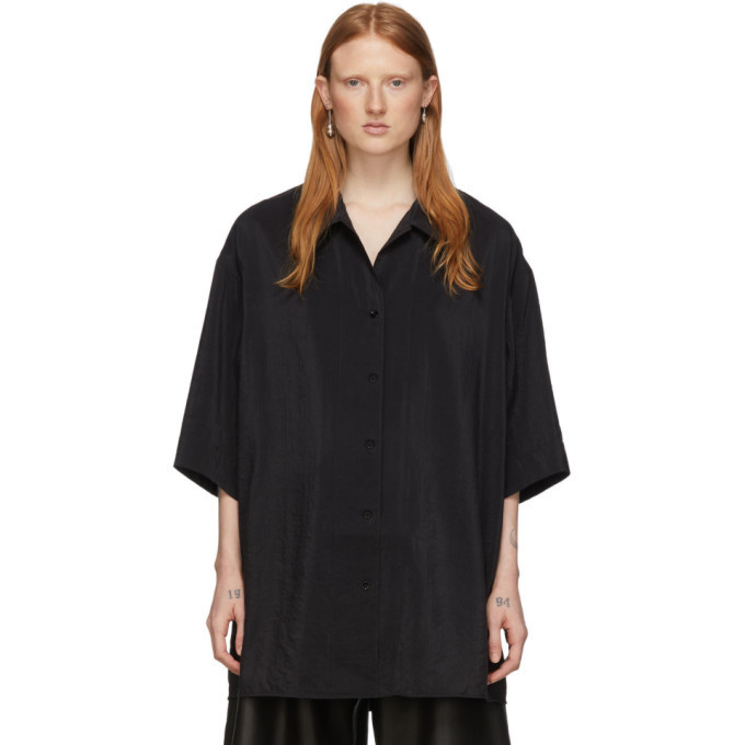 Photo: Lemaire Black Silk Maxi Shirt