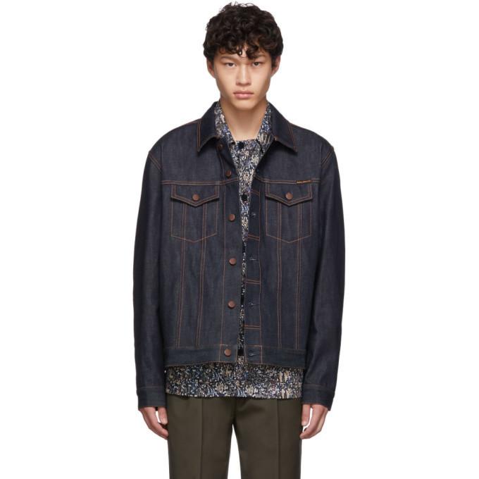 Photo: Nudie Jeans Blue Denim Dry Ring Jacket