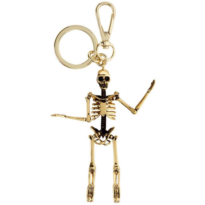 Photo: Alexander McQueen Gold Shiny Skeleton Keychain