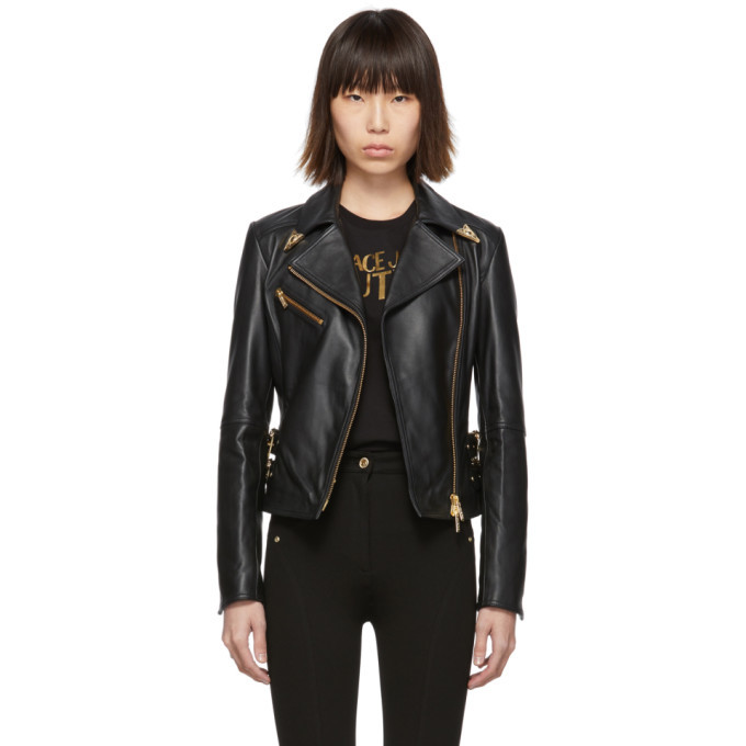 Photo: Versace Jeans Couture Black Leather Perfecto Jacket