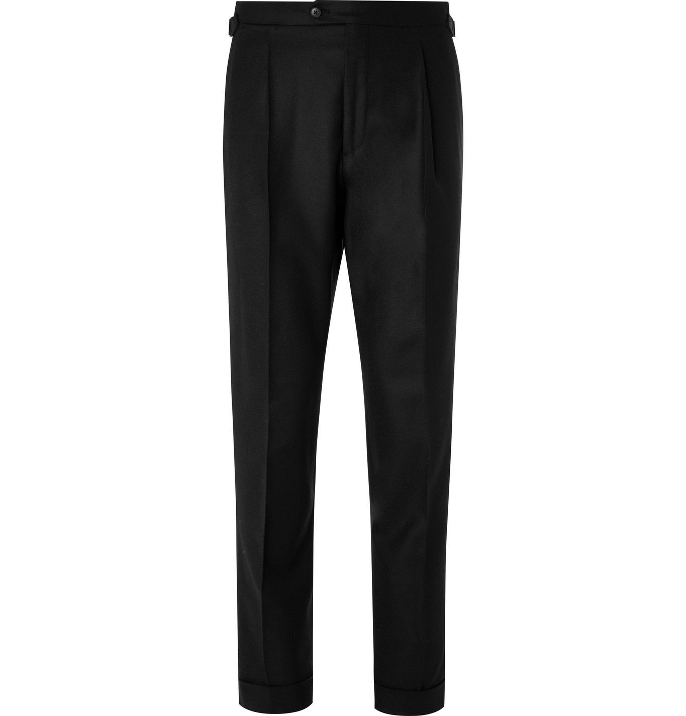 Photo: Saman Amel - Tapered Wool Trousers - Black