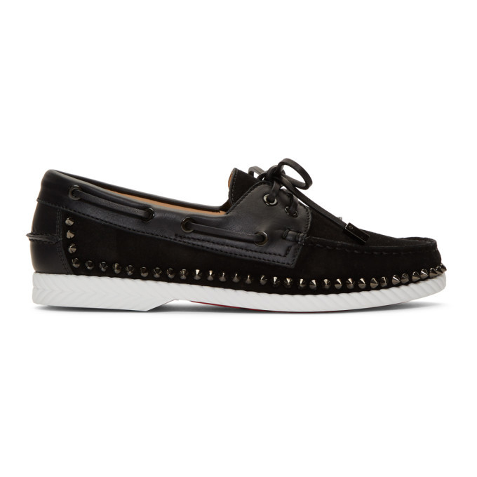 Photo: Christian Louboutin Black Steckel Loafers