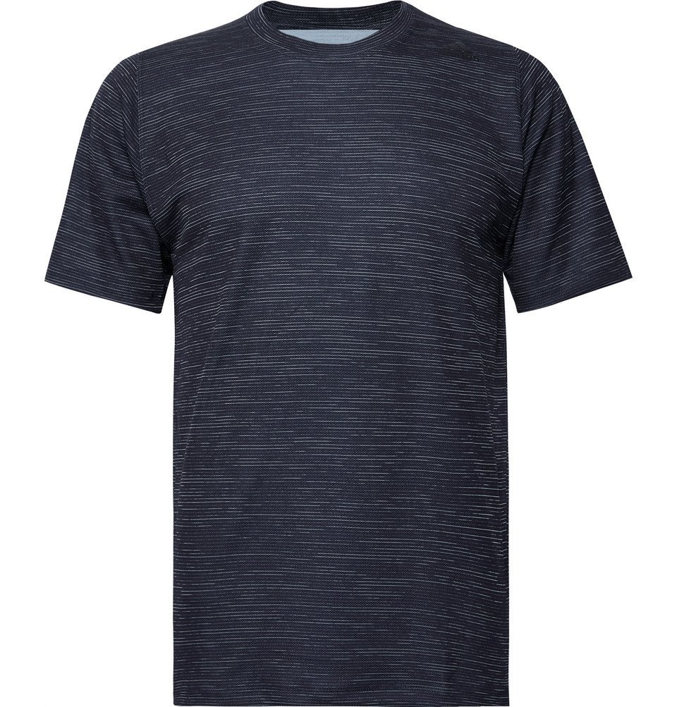 Photo: Adidas Sport - FreeLift Tech Space-Dyed Climalite T-Shirt - Midnight blue