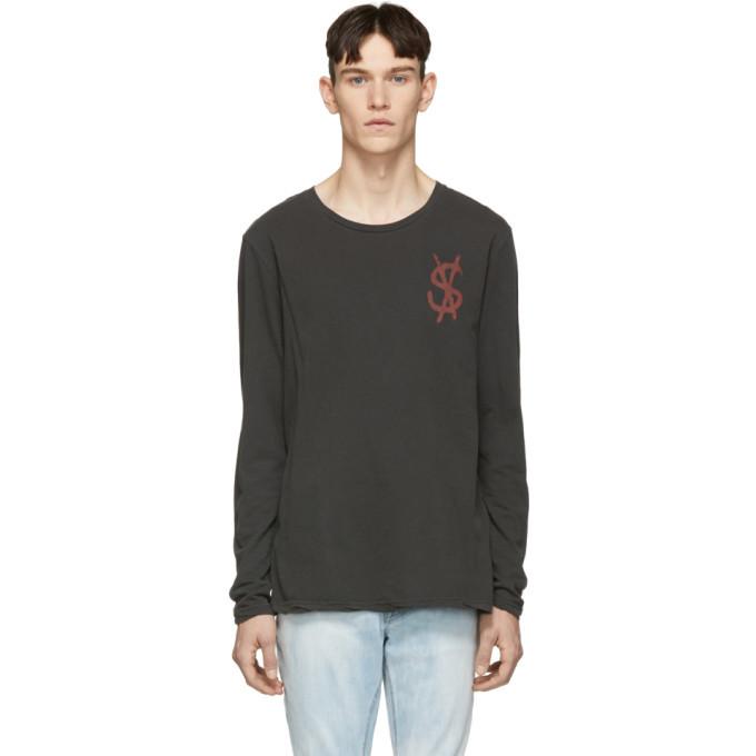 Ksubi Black Spray Dollar Long Sleeve T-Shirt