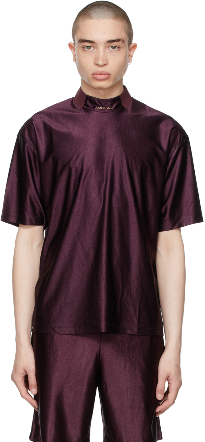 Acne Studios Burgundy Piping T-Shirt