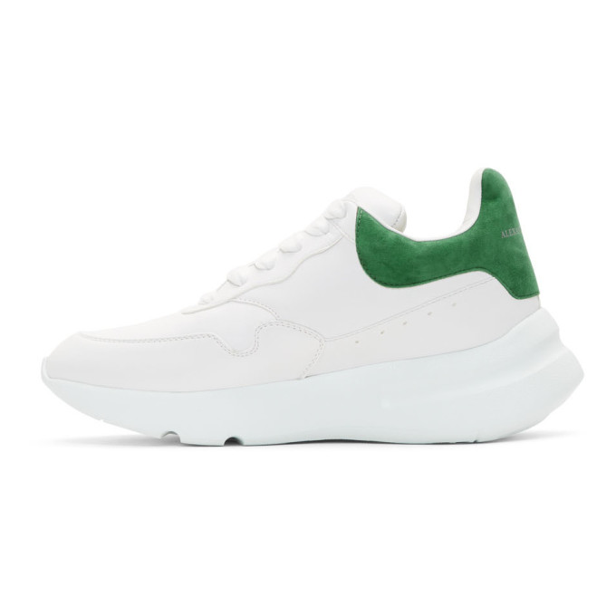 White and Green Runner Sneakers Alexander McQueen TEDydI