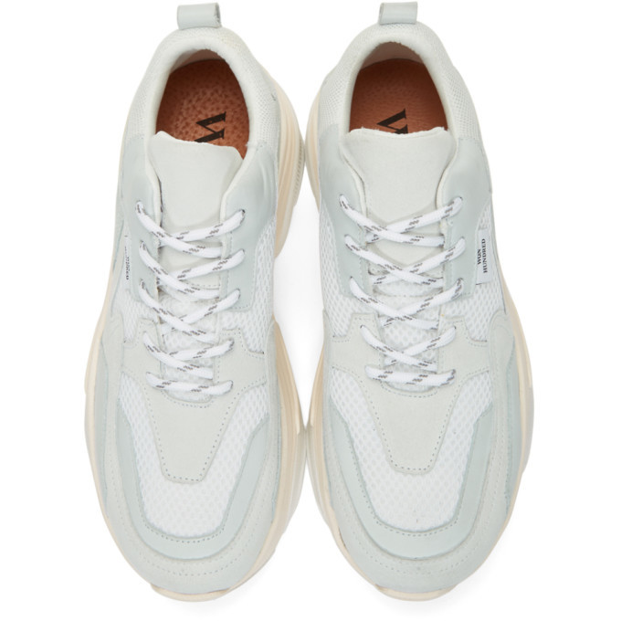 Won Hundred White and Grey Nika Sneakers