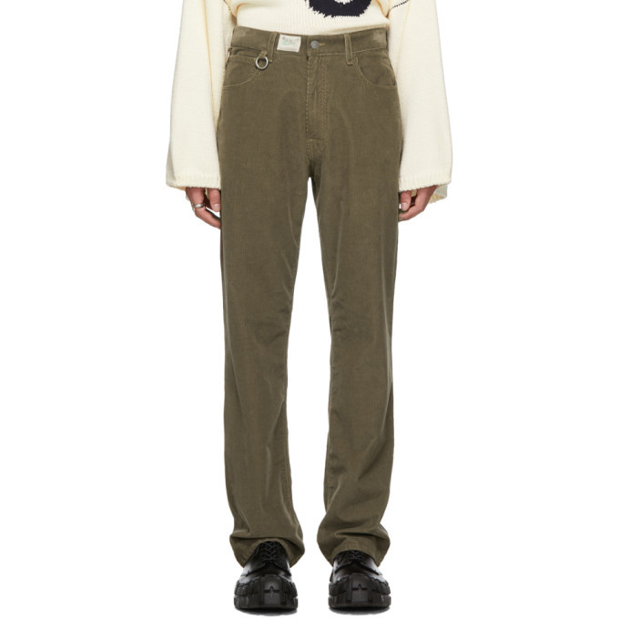 Raf Simons Brown Heroes and Losers Relaxed Fit Trousers