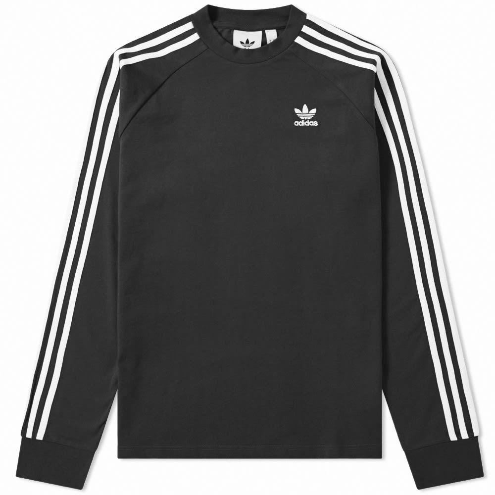 Photo: Adidas Long Sleeve 3 Stripe Tee
