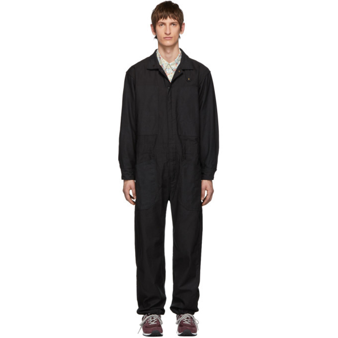 Photo: Engineered Garments Black Canvas Coverall Suit