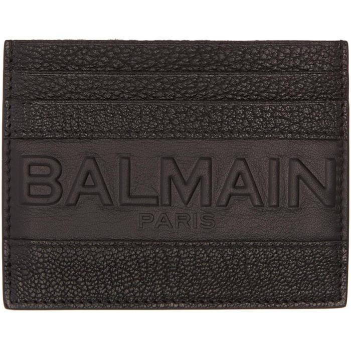 Photo: Balmain Black Logo Card Holder