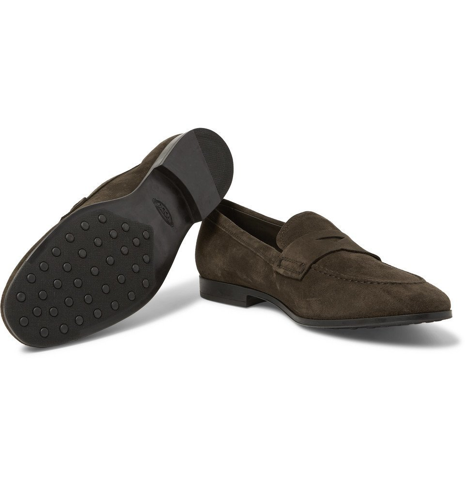 Tod's - Suede Penny Loafers - Chocolate