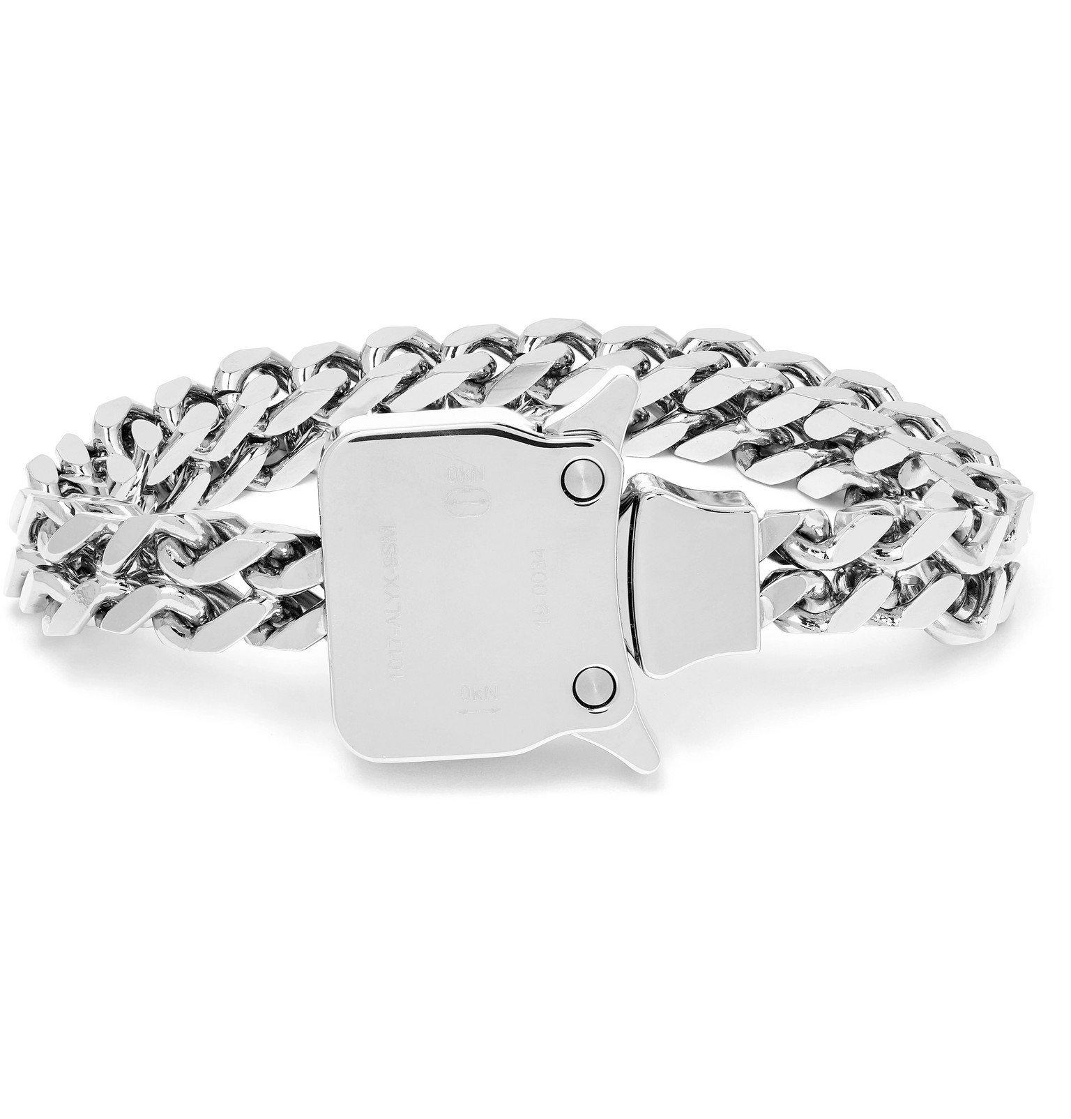 Photo: 1017 ALYX 9SM - Cubix Silver-Tone Chain Bracelet - Silver