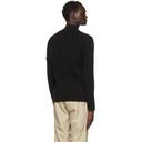 Stone Island Black Zip Knit Cardigan