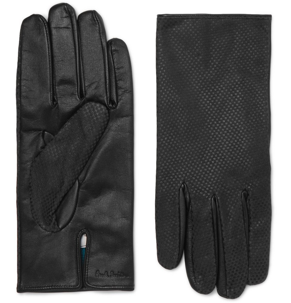 Photo: Paul Smith - Textured-Leather Gloves - Black