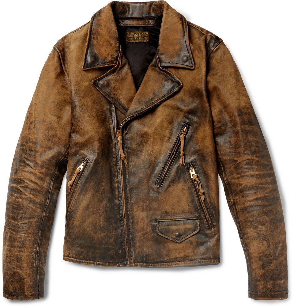 Photo: RRL - Distressed Leather Biker Jacket - Men - Brown