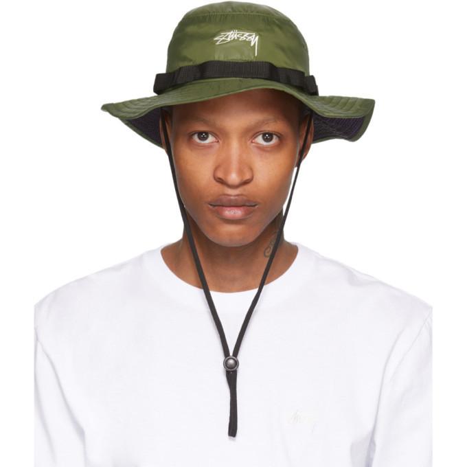 Photo: Stussy Green Nylon Boonie Hat
