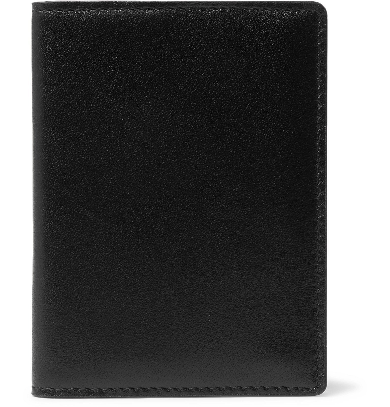 Common Projects - Logo-Print Leather Billfold Wallet - Black