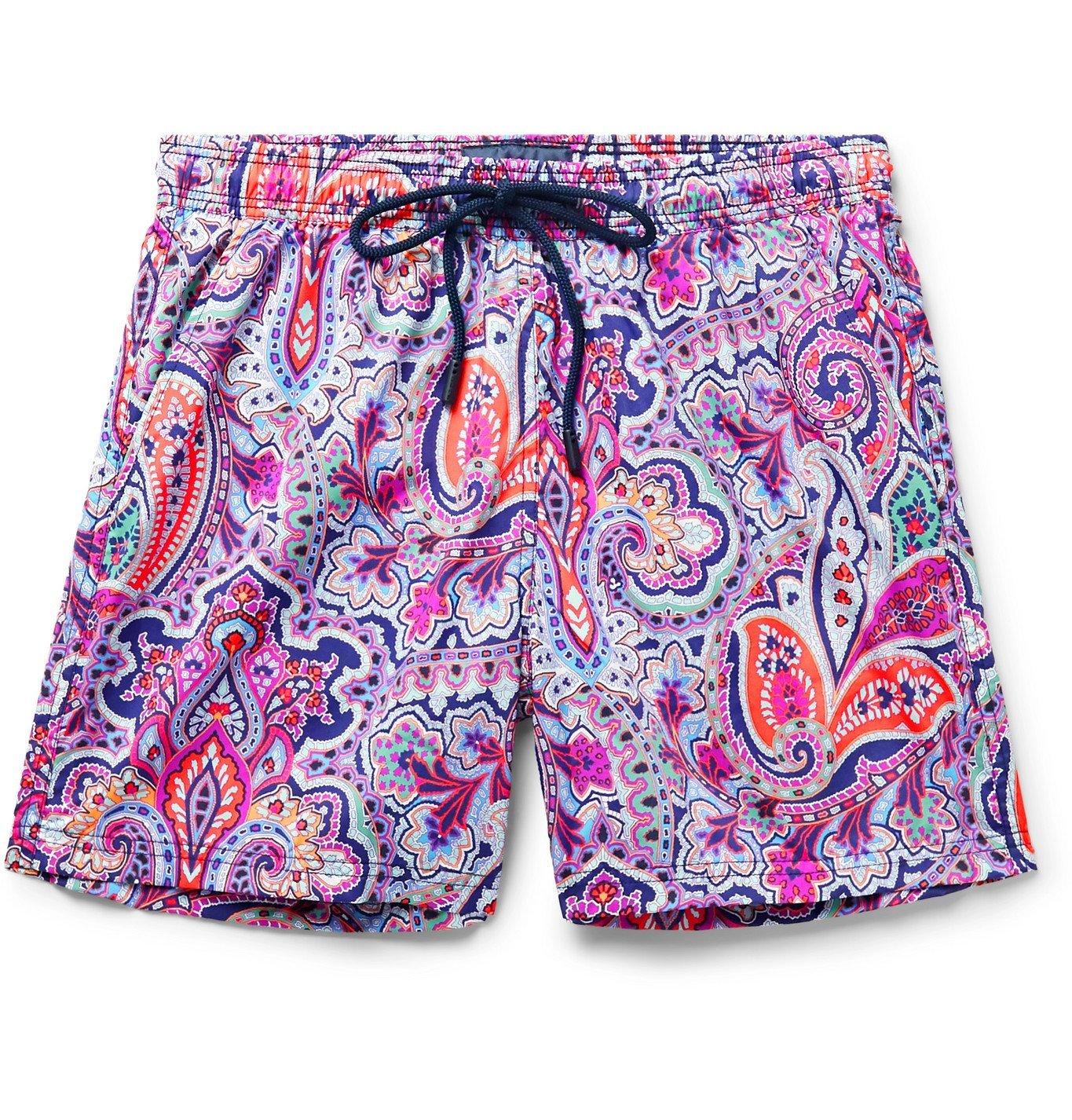 Photo: Etro - Paisley-Print Mid-Length Swim Shorts - Purple